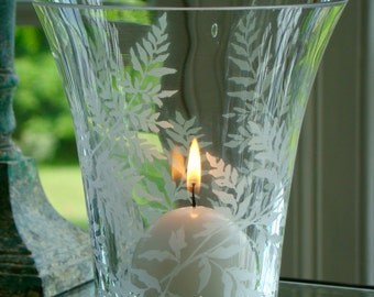 Flared Vase with Lady Fern -