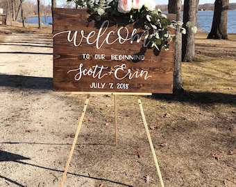 "Wedding Welcome Sign 24""x36"" 