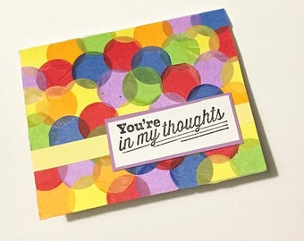 You're in My Thoughts Card Rainbow