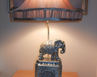 Lamp,Lamps, Elephant Lamp,Pair Of Lamps, Silver Lampos, Office Lamp