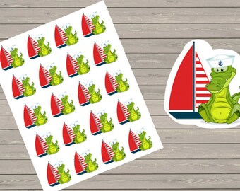 20 Vacation Stickers, Boating Stickers, Fits Erin Condren Planner & Other Planners, Planner Stickers, Summer Stickers