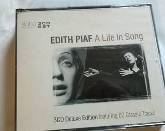 563) box of 3 CD, Edith Piaf, France, 60 titles
