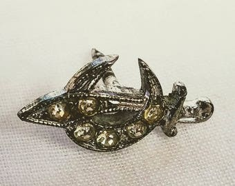 Vintage Shriner's Rhinestone Lapel Pin Free Shipping Without Back