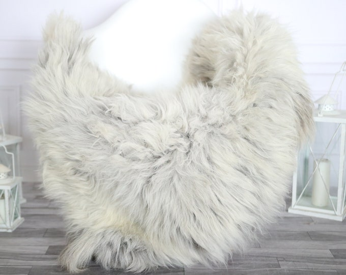 Sheepskin Rug | Real Sheepskin Rug | Shaggy Rug | Chair Cover | Sheepskin Throw | Gray Sheepskin | Home Decor | #HERMAJ68