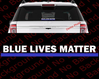 Blue Lives Matter Police United States NYPD LAPD Cops Leo Die Cut No Background Vinyl Decals Sticker for Car Window Bumper Helmet AY025