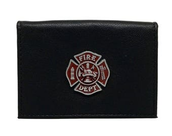 Fireman Business Card Case – Red