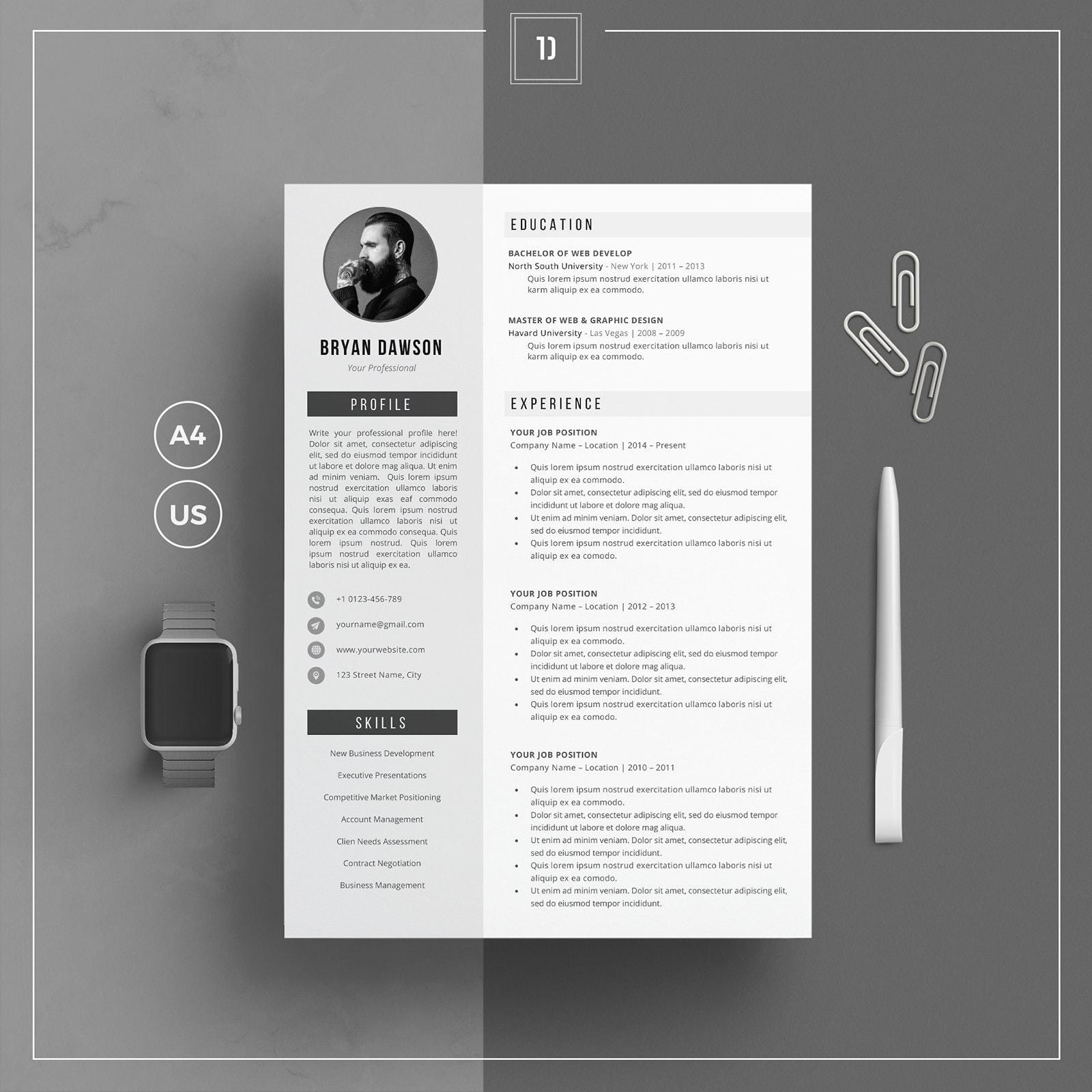 Groß Vorlage Lebenslauf Frei Wort Galerie - Entry Level Resume ...