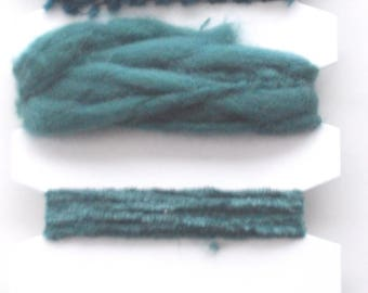 Fancy RIBBONS x 12 m - 6 different ribbons - color green - ref. 352