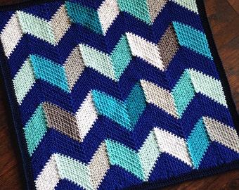 Crochet blanket Pattern tutorial/BabyLove Brand/CypressTextiles/Beach Hut Blanket/unique fun modern linen stitch chevron easy geometric
