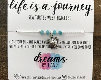 Sea Turtle | Life is a Journey Wish Bracelet