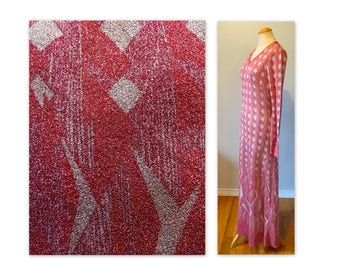 Vintage 70s Metallic Maxi Dress M Art Deco Revival by Pelilla, Italy