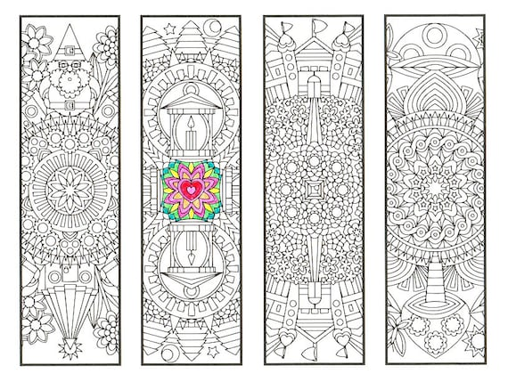 Coloring Bookmarks Fantasy Forest Mandalas Page 2 Coloring