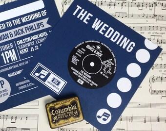 Wedding/ Party Invitations - Vinyl Record Design x 40