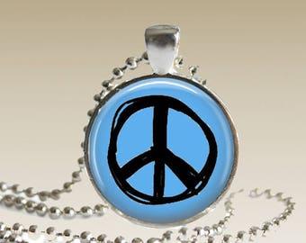 Peace Sign Necklace Peace Necklace Peace Sign Pendant