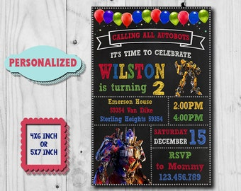 Transformers Birthday Invitation Transformers Invitation