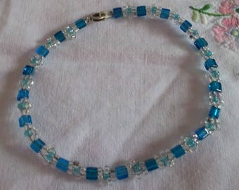 Blue & Crystal beads bracelet