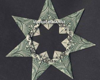 7 Point Star Money Origami Dollar Bill Religion Cash Sculptors Bank Note