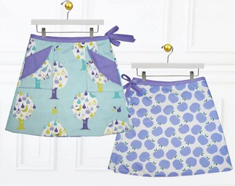 Girls skirt pattern, Wrap skirt pattern,  girls sewing pattern, childrens sewing pattern, skirt sewing pattern, PDF sewing pattern, MADISON
