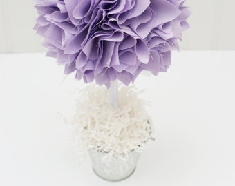 PURPLE TOPIARY CENTERPIECE / Baby Shower Centerpiece / Christening Centerpiece / Bridal Shower Centerpiece / Wedding Centerpieces / Topiary