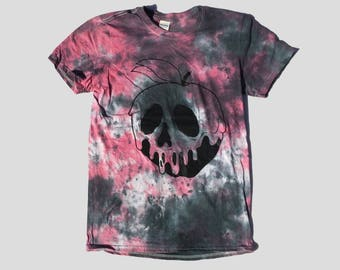 Disney Inspired Poison Apple Red Black Tie Dye Pastel Goth T-shirt Mens Womens Hype Dope Hipster Indie Cute Shirt