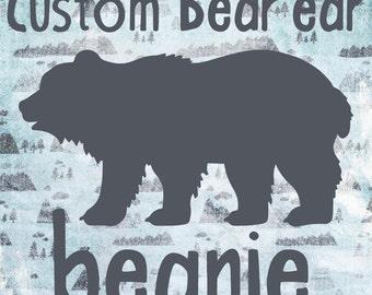 Custom Bear Ear Beanie