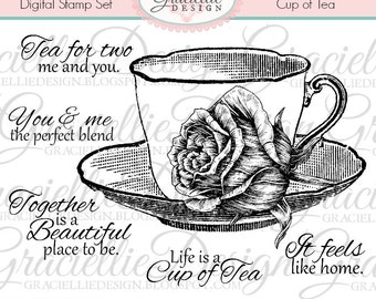 Cup of Tea - Digital Stamp Set