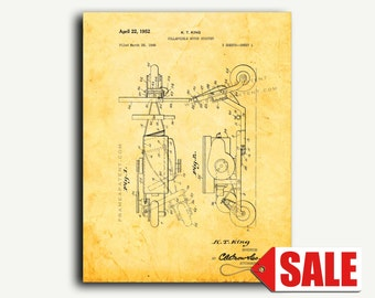 Patent Art - Collapsible Motor Scooter Patent Wall Art Print