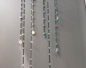 Silver Suede Jewellery