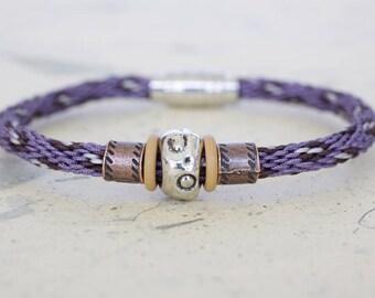 Kumihimo bracelet, Japanese braid bracelet, mens bracelet, snake bracelet, leopard bracelet, magnetic clasp bracelet + charity donation