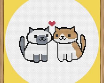 Neko Atsume Cat Cross Stitch Pattern PDF Download