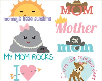 Mother's Day Clipart -Personal and Limited Commercial Use- fun mom clip art