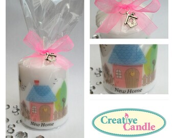 Personslised New Home Gift Candle