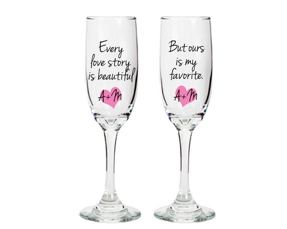 personalized toasting glasses with custom sayings quotes