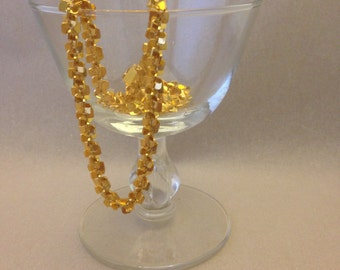 Vintage Flashy Gold Necklace