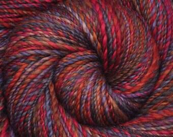 Handspun yarn - Hand painted Corriedale wool, worsted weight, 260 yards - Stolen Pleasures