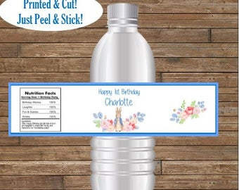 Personalized Peter Rabbit Water Bottle Labels    Peter Rabbit Birthday    Peter Rabbit Baby Shower