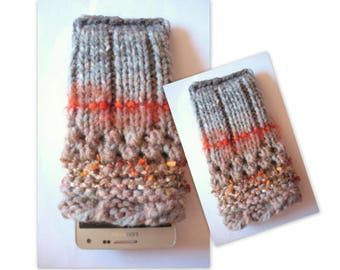 iPhone 6 case iPhone 6s case Rainbow Phone Sleeve Knit Phone Case Vegan Cell Phone Cozy Knitted Mobile Phone Sock iPhone 6 plus case iPhone