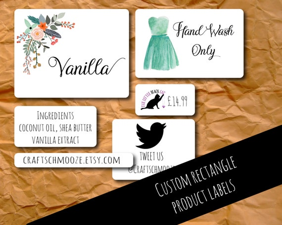 Product labels custom stickers personalised rectangle labels custom labels business stickers custom sticker logo labels packaging from
