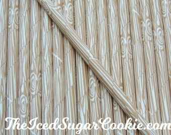 Woodland Straws-Paper Straws-Wood Straws-Wood Grain Straws-Wood Paper Drinking Straws-Wood Pattern Straws-Tree Pattern-Woodland Straws