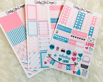 Whimsical Valentine's Day Weekly Kit | Erin Condren & Plum Paper Planner