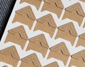 24 Kraft paper Photocorners