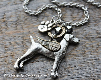 Weimaraner Memorial Necklace, Weimaraner Angel, Weimaraner Jewelry, Weimaraner Mom, Pet Memorial Jewelry