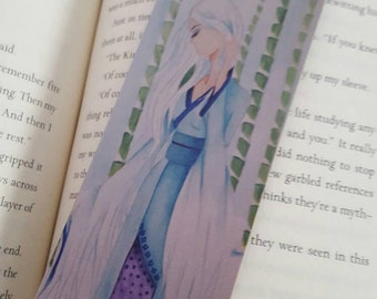 Japanese Fairytale Bookmark, Manga Fairytale Bookmark, Pretty Girl Bookmark, The Stork Wife, 2x6
