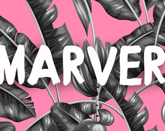 Marver Handmade Font, ready to download | Brush Font Style | Display Font