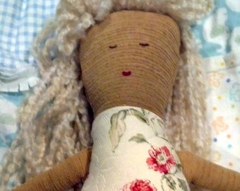 Cloth Doll with Blond Hair