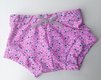 Pink floral // kids shorts // kids leggings