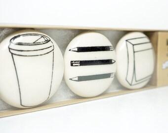 magnet set of office staples. (3pk)