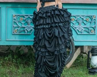Gala Goddess Bustle skirt / Steampunk bustle skirt / Burning man costumes / Festival clothing / Victorian skirt / Tutu skirt