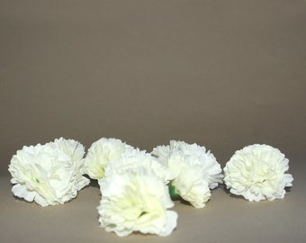 10 Cream Baby Carnations - Artificial Flowers