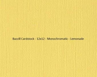 Bazzill Cardstock - 12x12 - Monochromatic - Yellow's